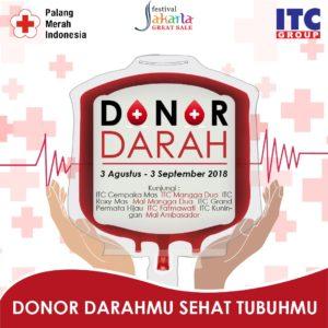 Kegiatan Donor Darah di ITC Mangga Dua 6 Agustus 2018