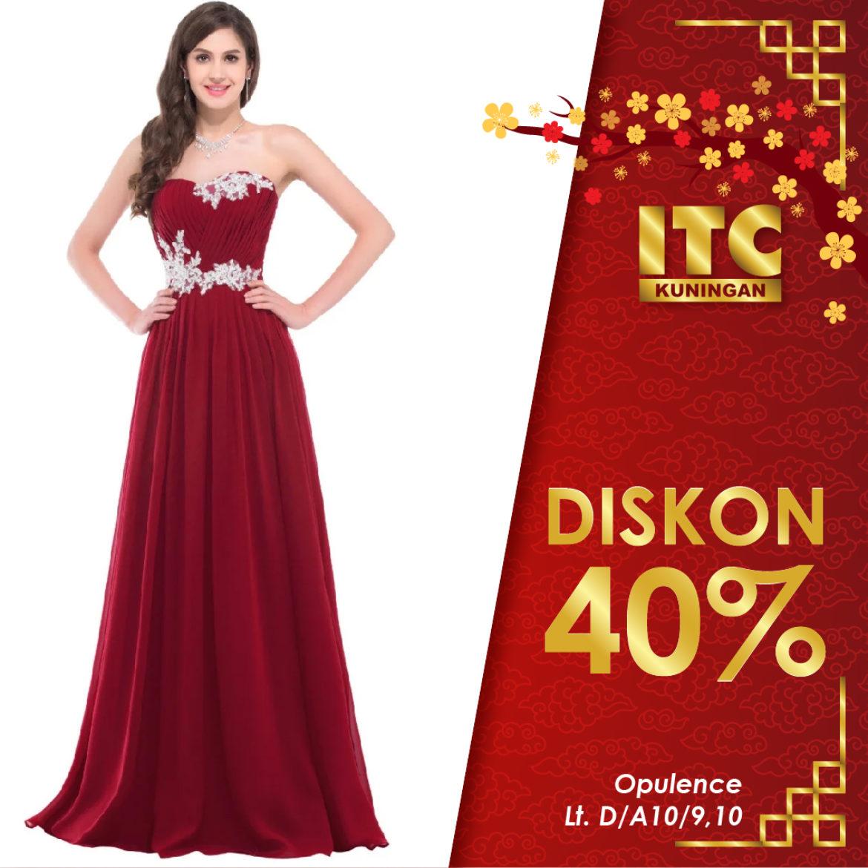 Diskon 40 Untuk Gaun Pesta Itc Shopping Festival