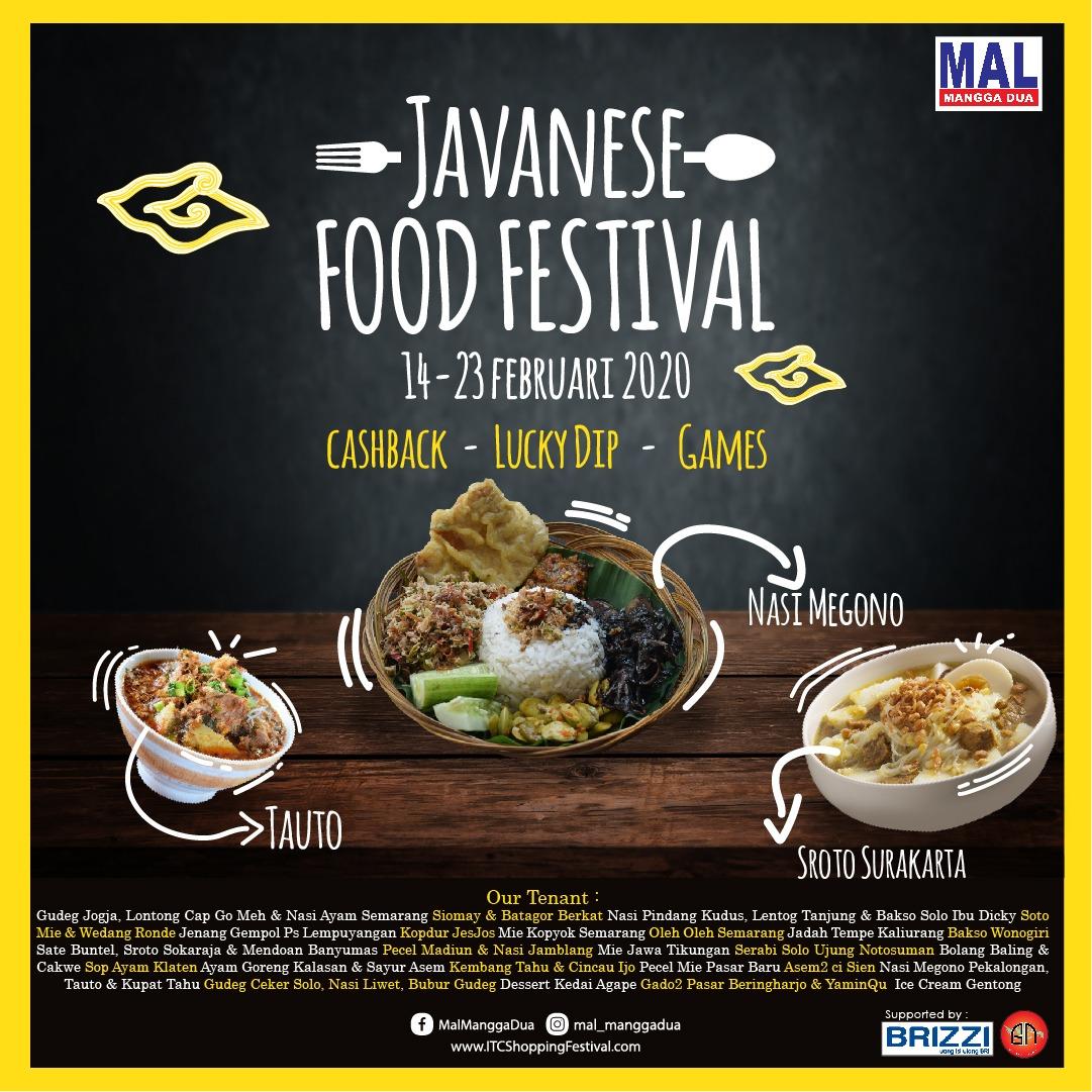 Javanese Food Festival Mal Mangga Dua Itc Shopping Festival